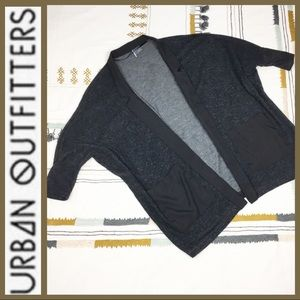 [ Urban Outfitters ] Black Oversized Open Cardigan